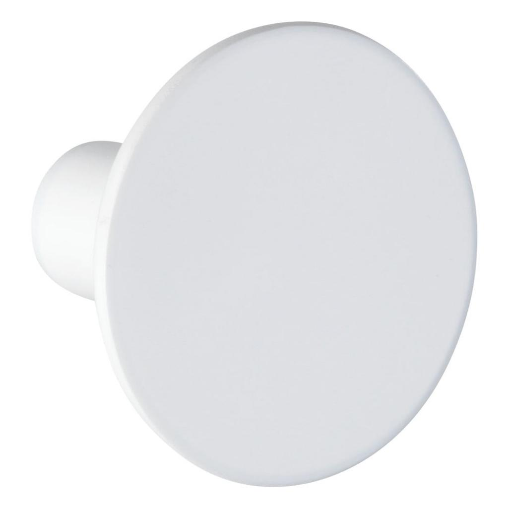 Produktové foto Bílý nástěnný háček Wenko Melle, ⌀5cm