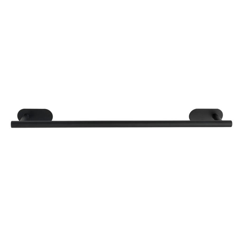 Produktové foto Matně černý nástěnný držák na ručníky z nerezové oceli Wenko Orea Rail Turbo-Loc®