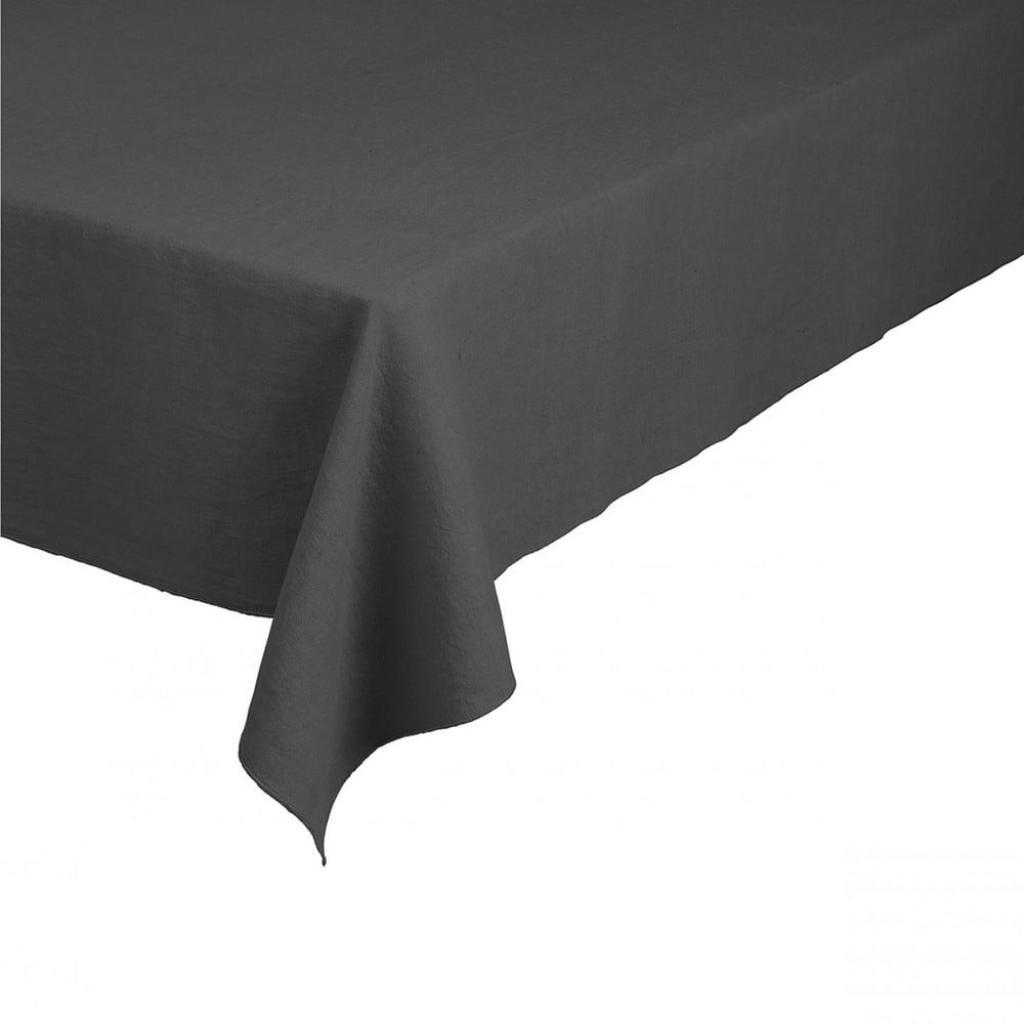 Produktové foto Tmavě šedý lněný ubrus Blomus, 140x260cm