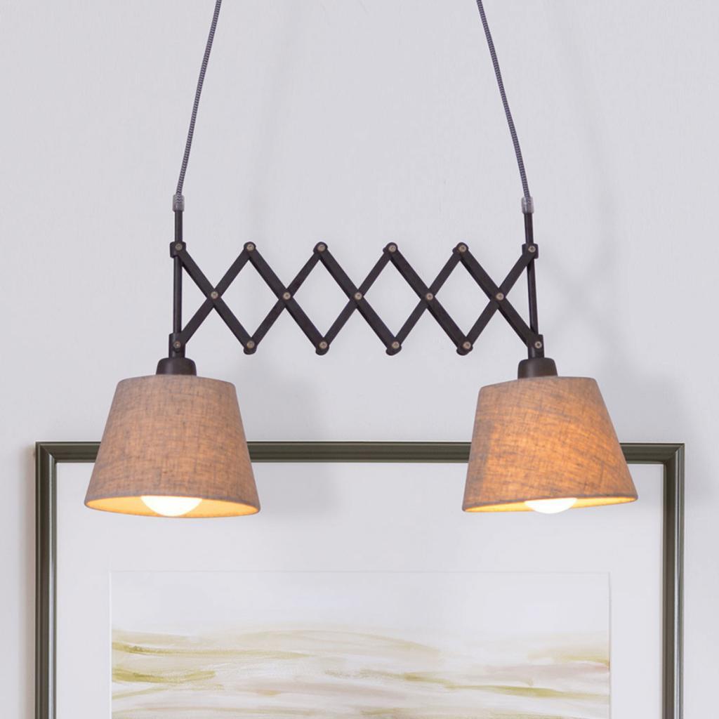 Produktové foto Näve Textilní závěsné světlo Adrienne dvouzdrojové