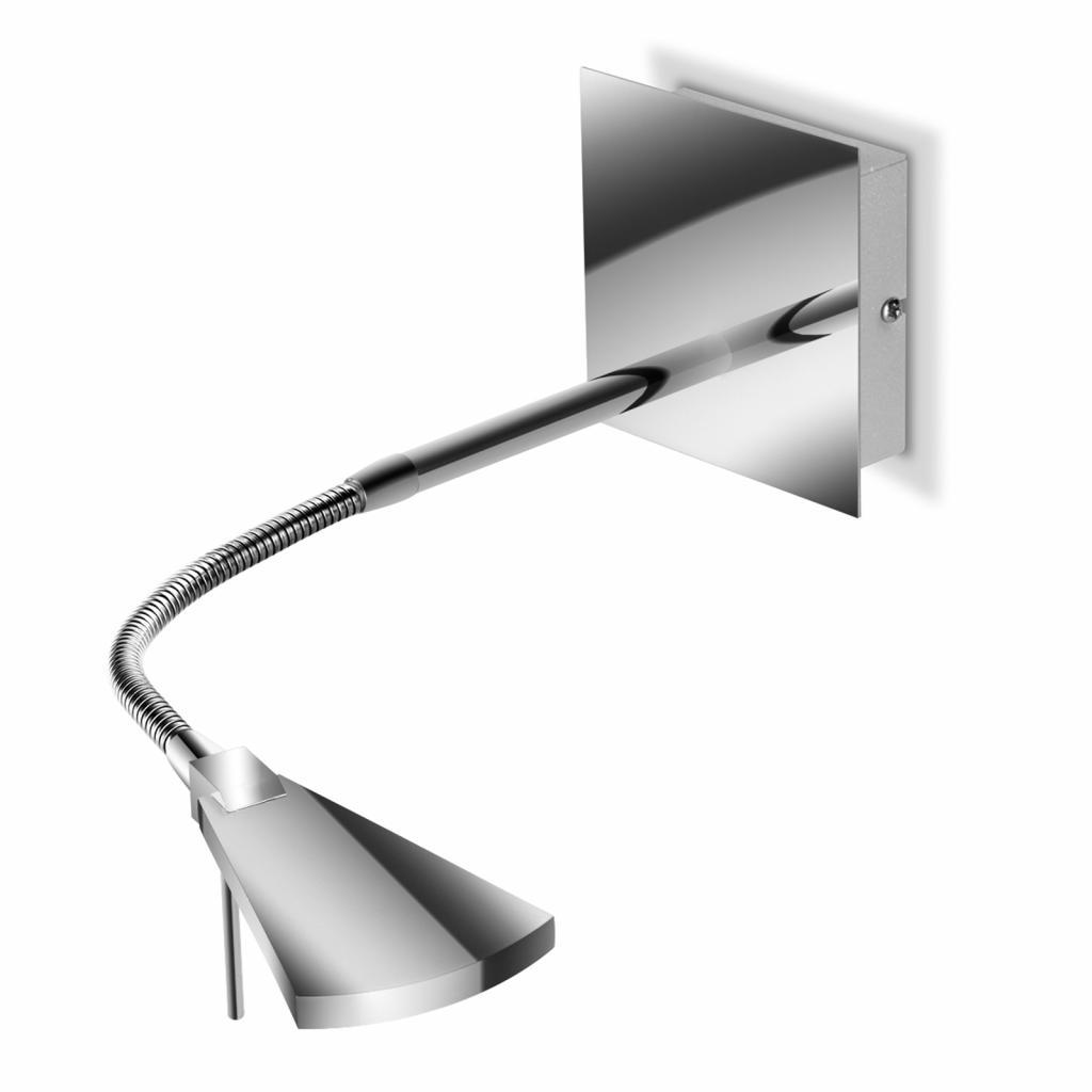 Produktové foto Pujol Flexibilní LED nástěnné světlo Nec, chrom