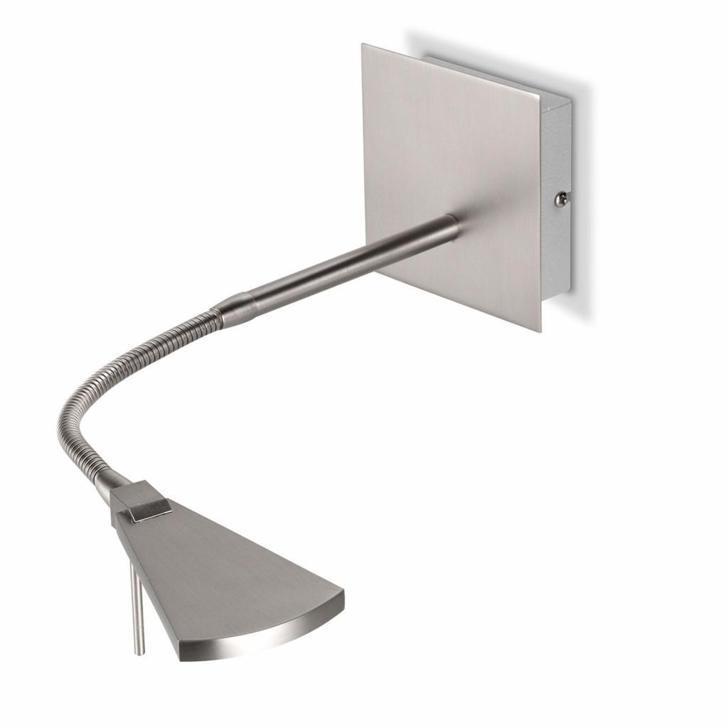 Produktové foto Pujol Flexibilní LED nástěnné světlo Nec, nikl matný