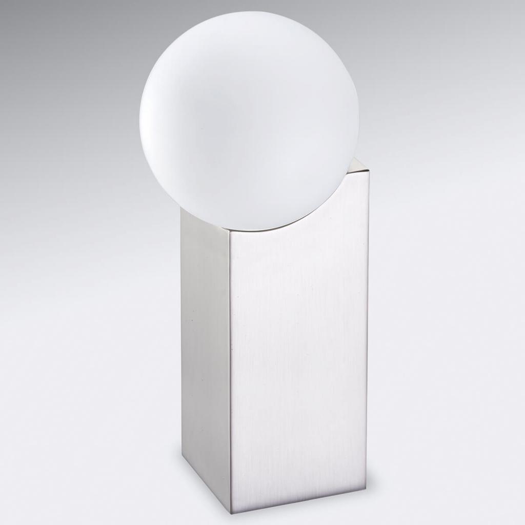 Produktové foto Pujol Stolní lampa Cub 23,5 cm nikl matný