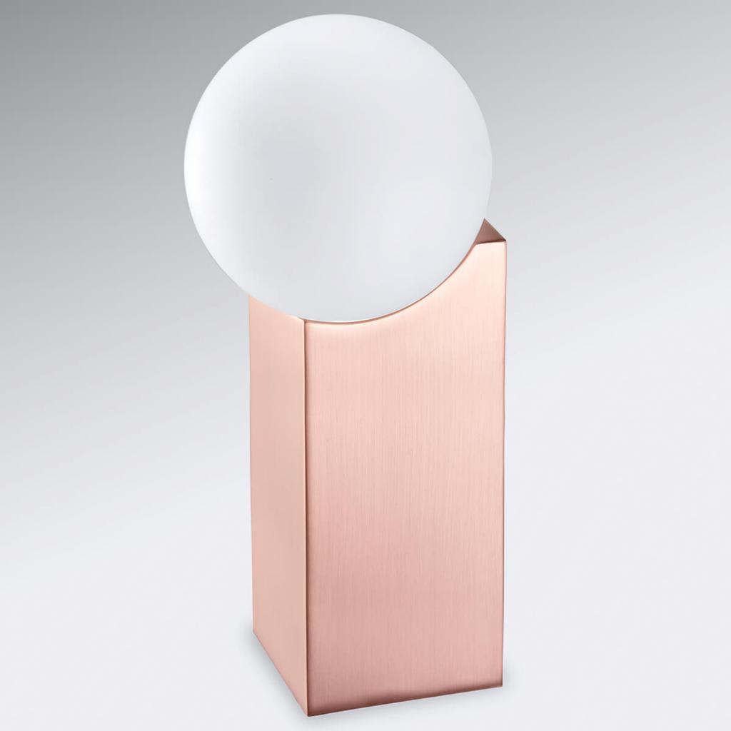 Produktové foto Pujol Stolní lampa Cub 23,5 cm měď
