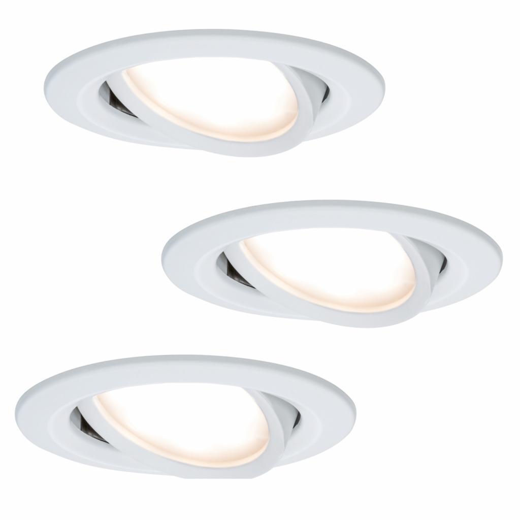 Produktové foto Paulmann Paulmann Coin Slim LED podhledové svítidlo bílé 3x
