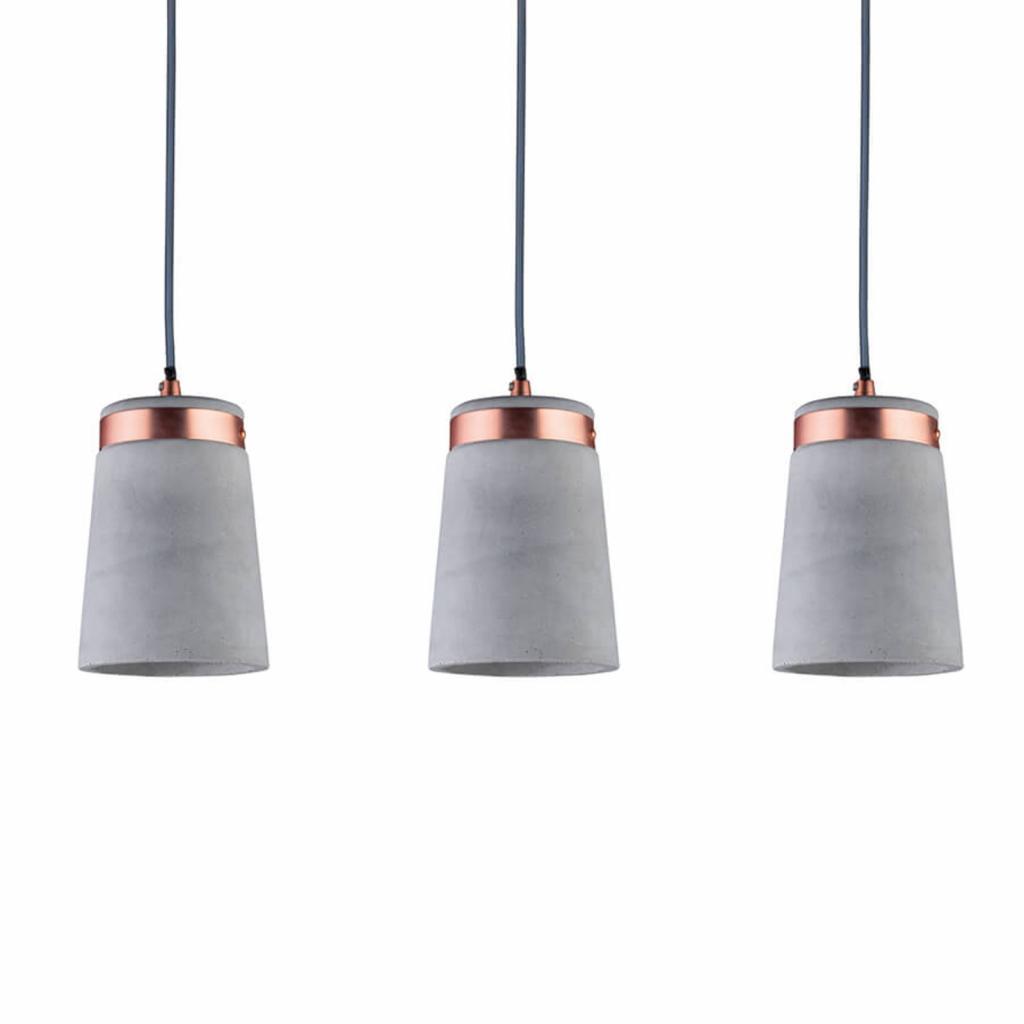 Produktové foto Paulmann Paulmann Stil závěsné světlo 3 žárovky z betonu