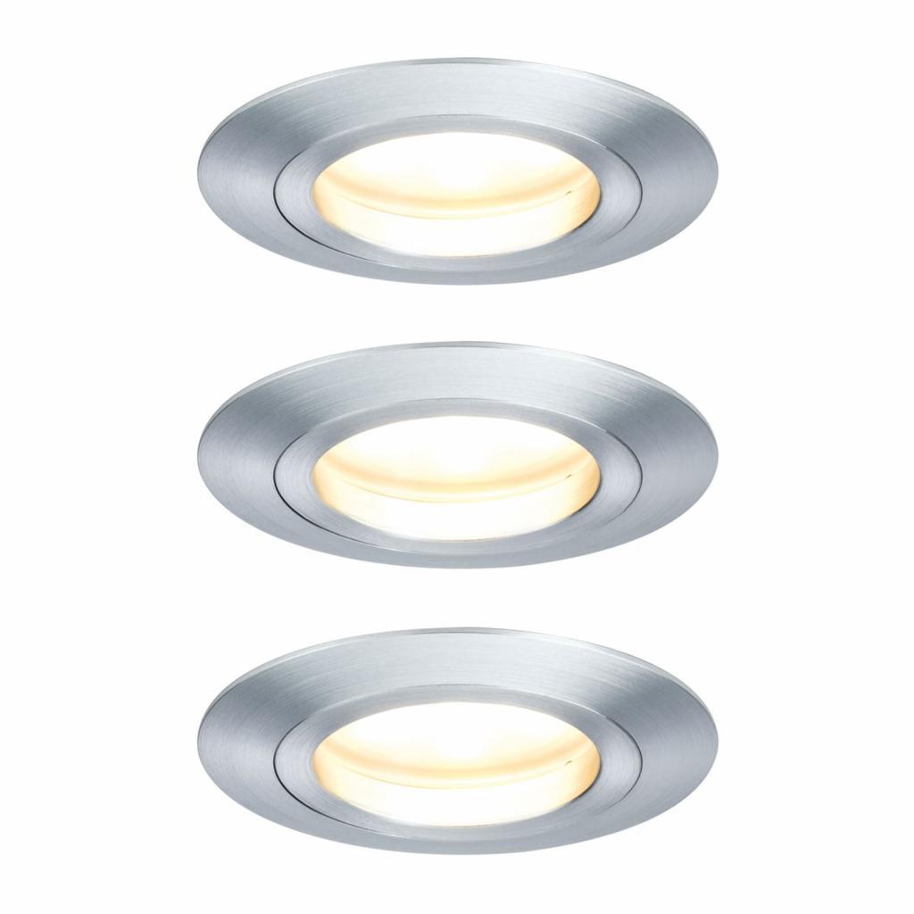 Produktové foto Paulmann Paulmann 3x LED bodové svítidlo Coin, 7W, hliník