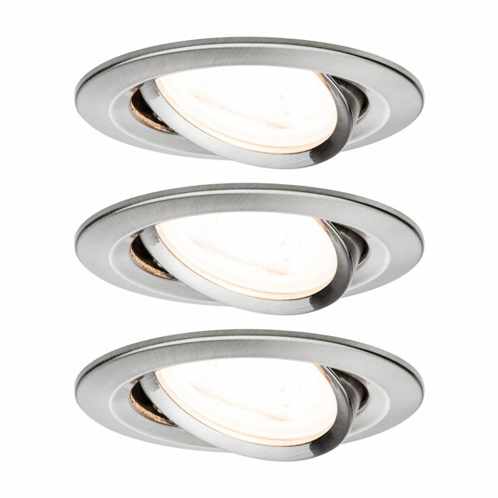 Produktové foto Paulmann Paulmann 3x bodové svítidlo Nova kulaté, železo