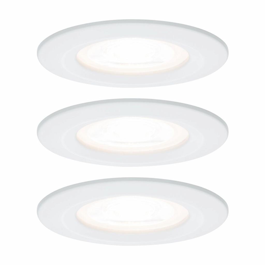 Produktové foto Paulmann Paulmann 3x bodové svítidlo Nova kulaté, IP44 bílé