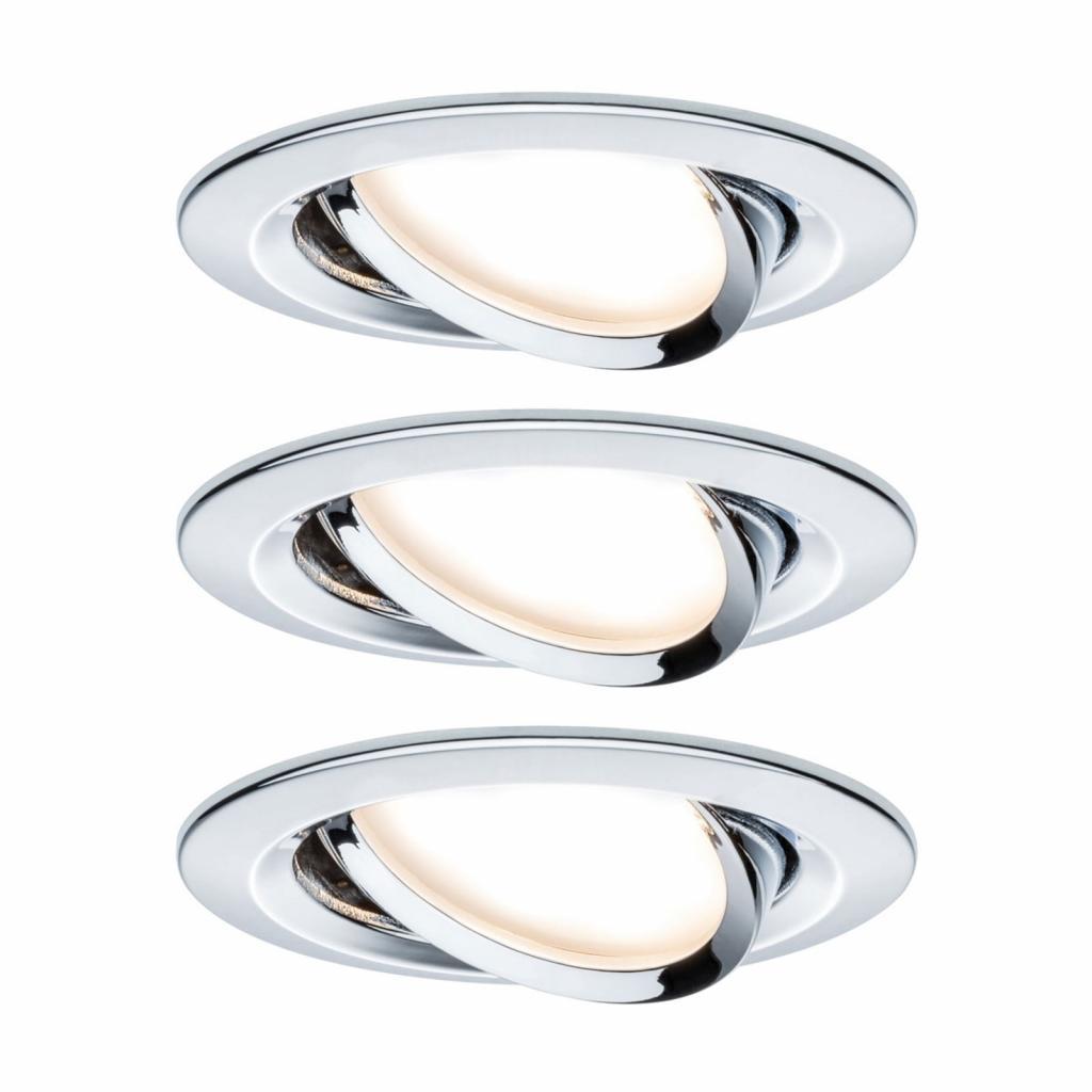Produktové foto Paulmann Paulmann 3x bodové svítidlo Nova Coin, chrom
