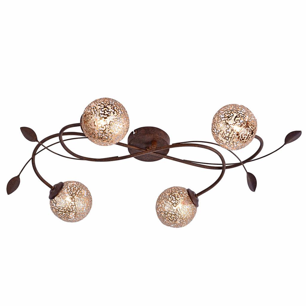 Produktové foto Paul Neuhaus Čtyřramenné světlo Greta vkvětinovém designu