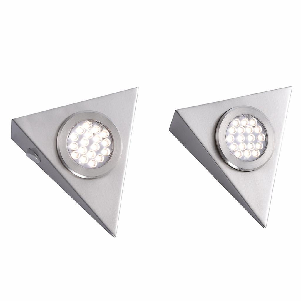 Produktové foto Paul Neuhaus Trojhranné podhledové LED světlo Helena, sada 2 ks