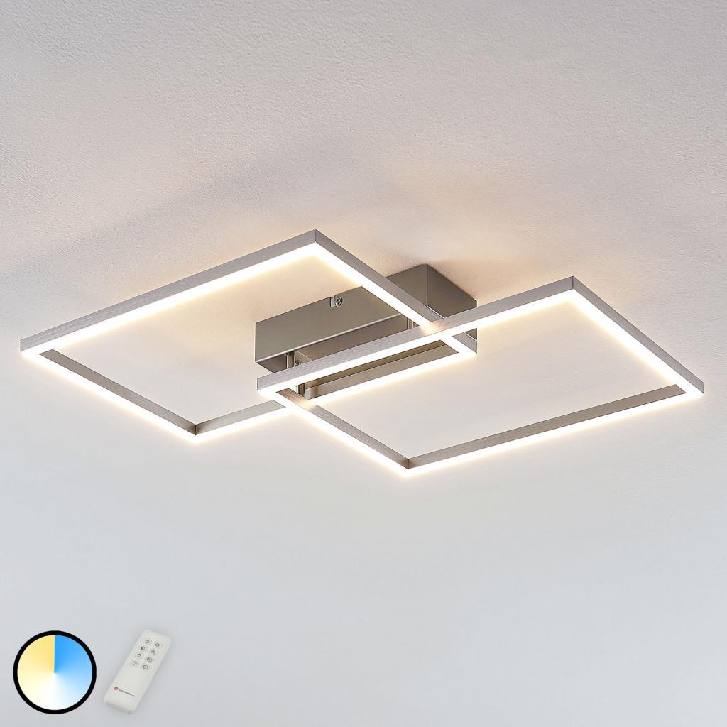 Produktové foto Lucande LED světlo Quadra, regulovatelné, 2zdroje, 50 cm