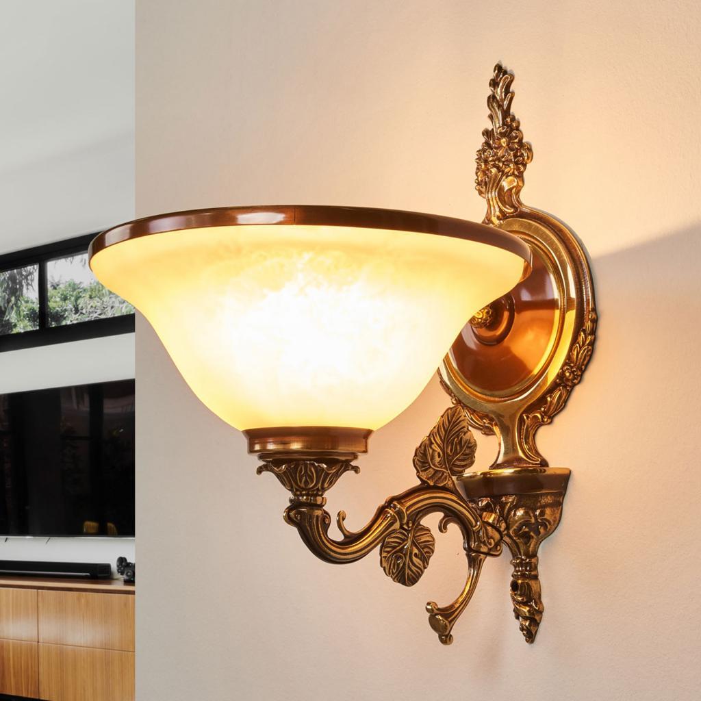 Produktové foto RIPERLamP Nástěnné světlo Rialto, sklo jantarové