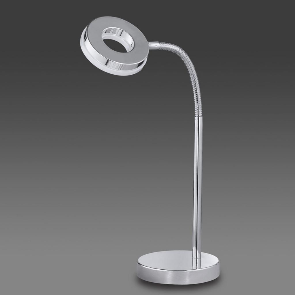 Produktové foto Reality Leuchten Chromovaná stolní lampa LED Rennes