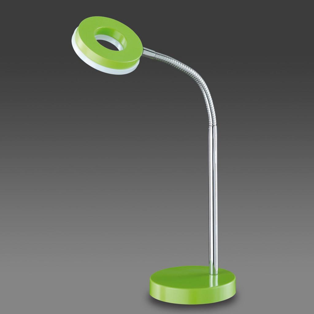Produktové foto Reality Leuchten Zelená stolní lampa LED Rennes