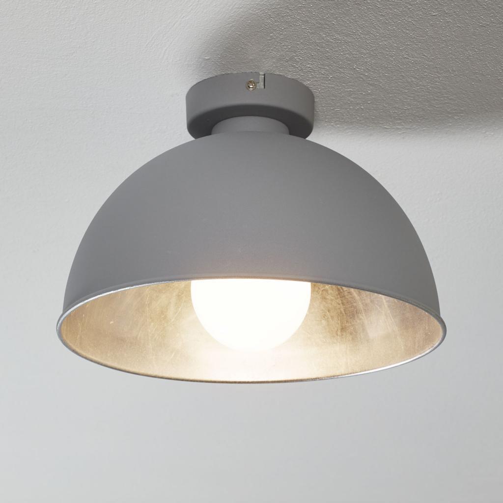 Produktové foto Reality Leuchten Kovové stropní světlo Jimmy šedá/stříbrná