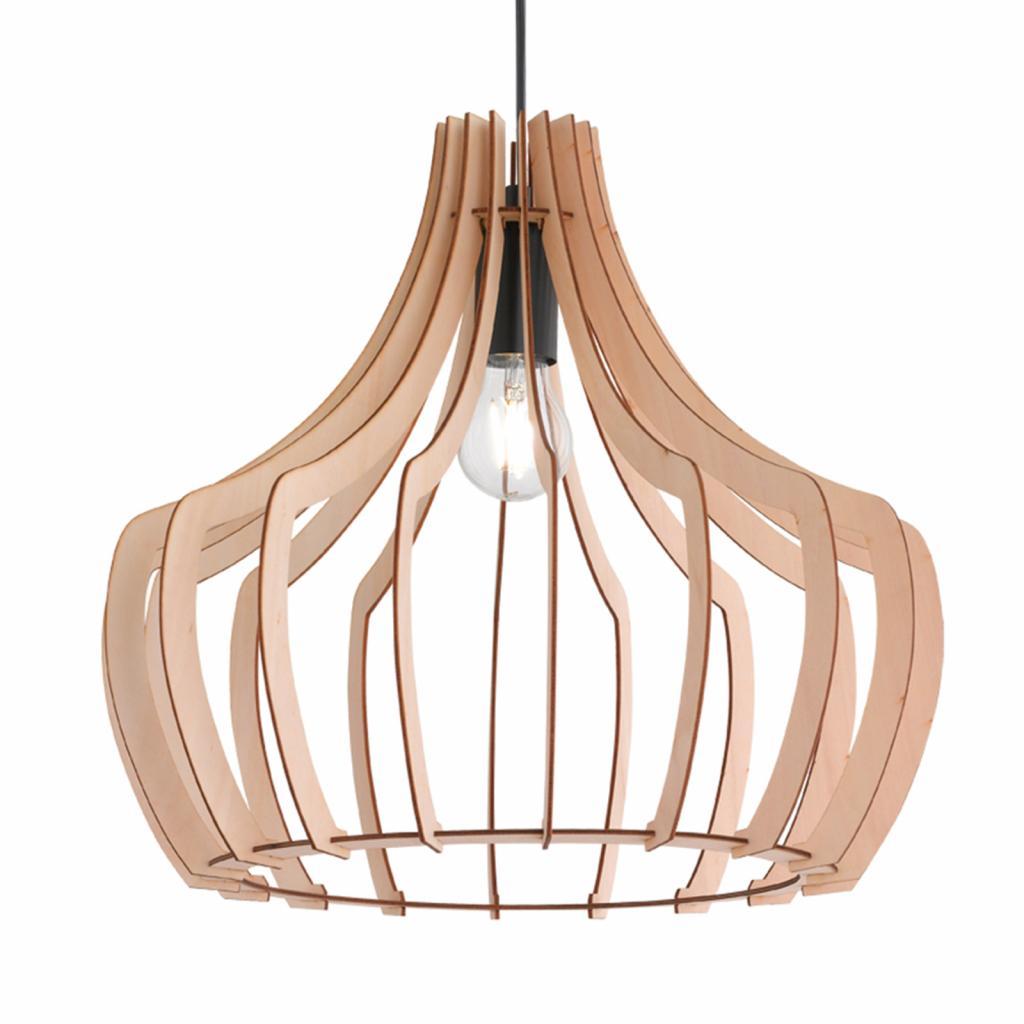 Produktové foto Reality Leuchten Dřevěné závěsné světlo Wood, 38,5 cm