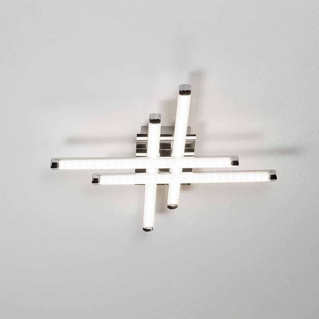 Produktové foto Reality Leuchten LED stropní svítidlo Street 4zdr vzhled křišťálu