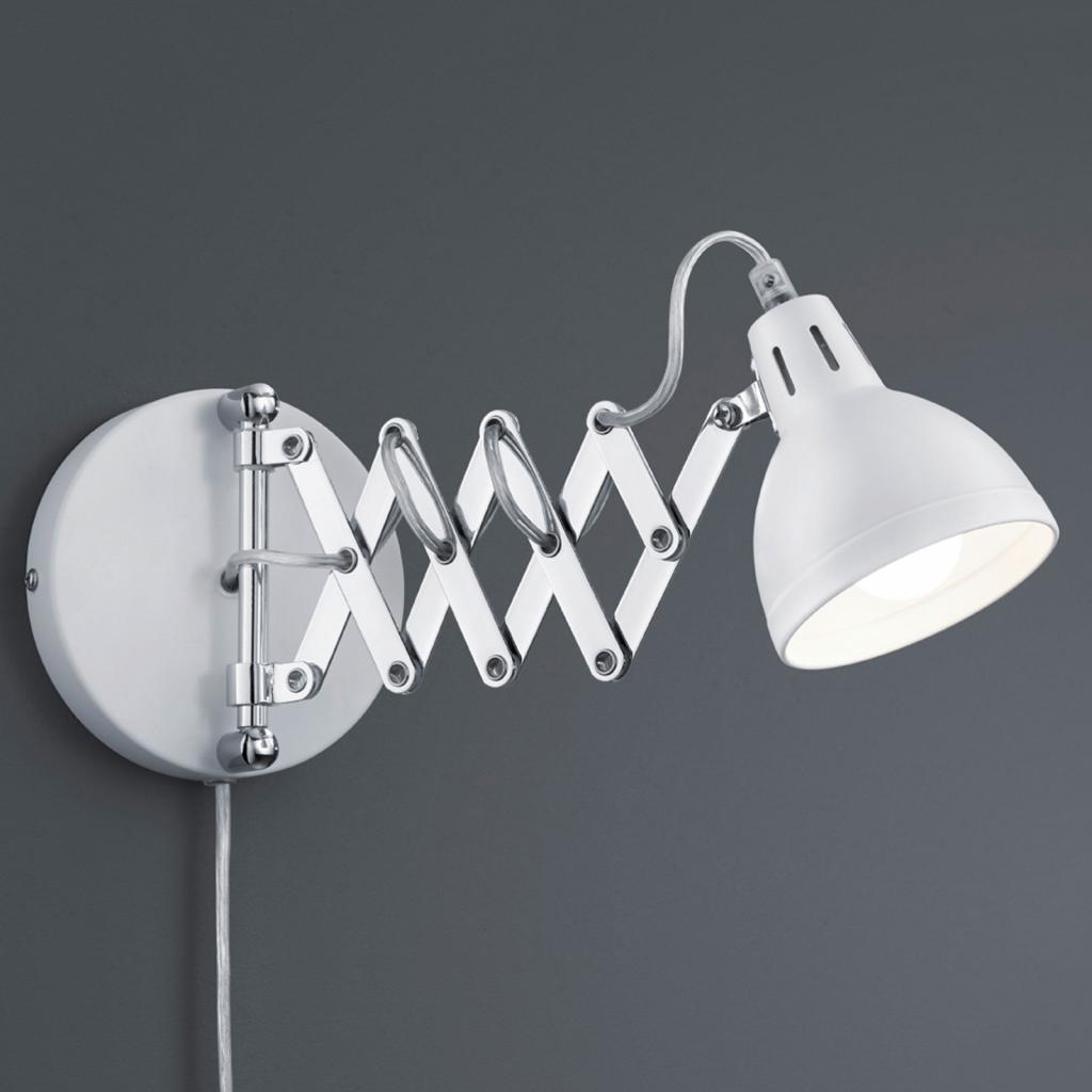 Produktové foto Reality Leuchten S matně bílým stínidlem - nástěnné světlo Scissor