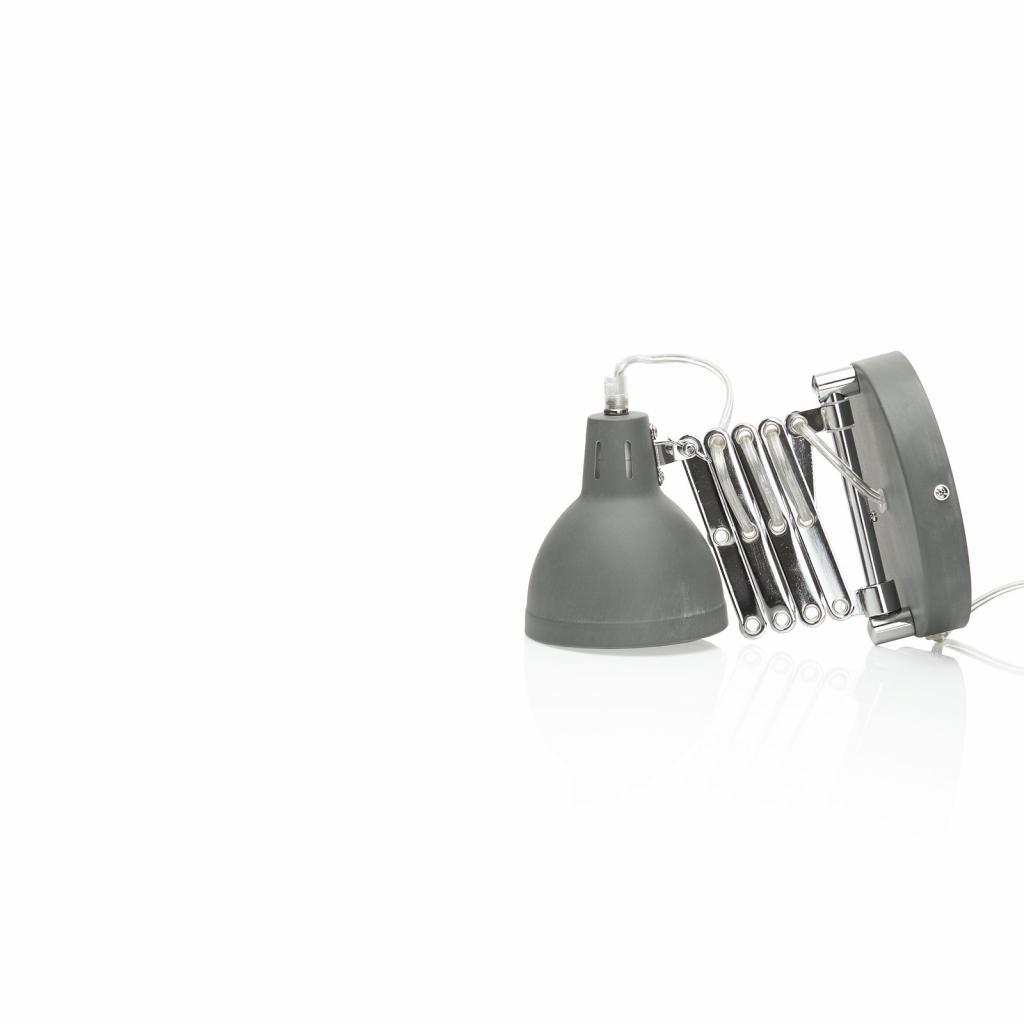 Produktové foto Reality Leuchten Nástěnné světlo Scissor tahací harmonika beton