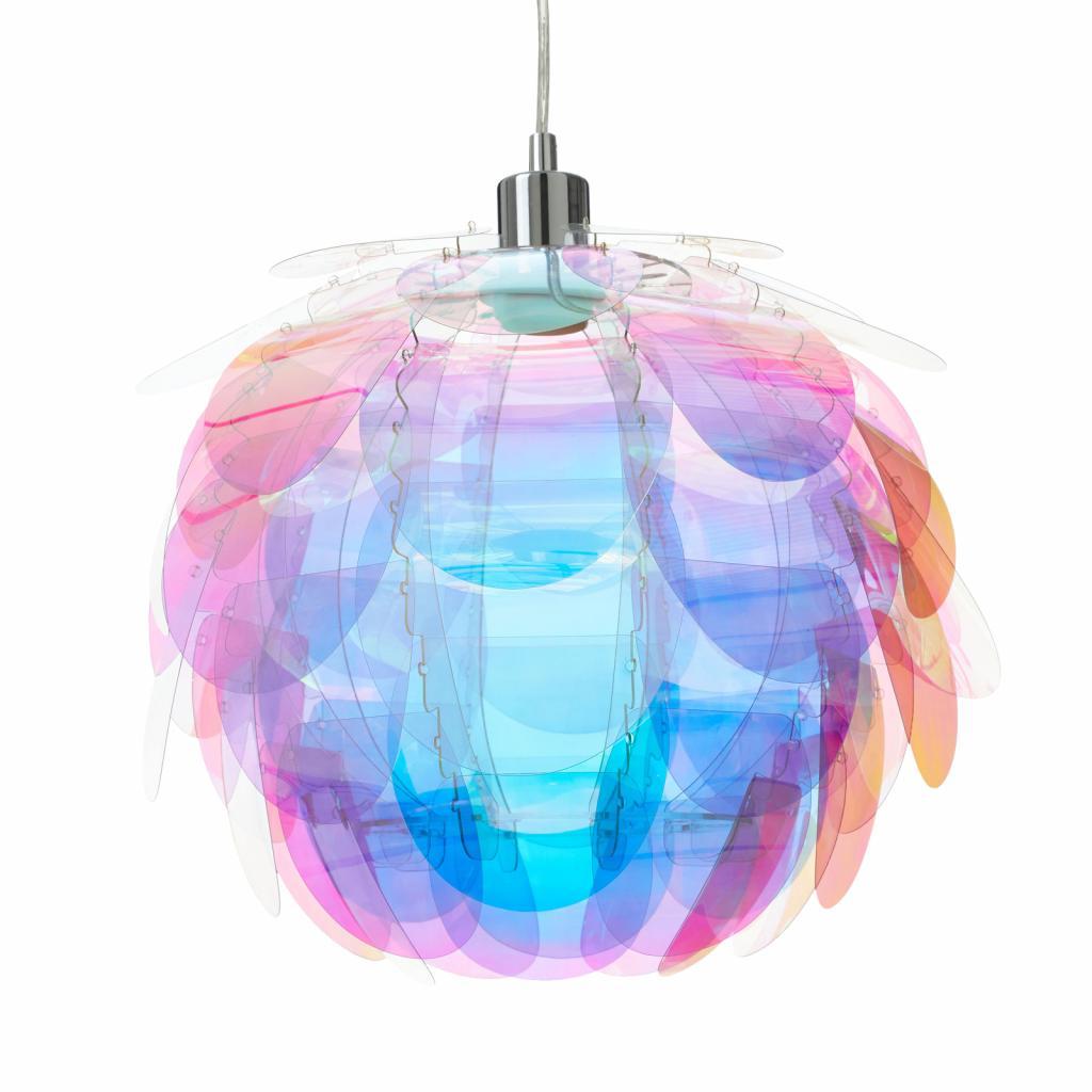 Produktové foto Reality Leuchten Závěsné světlo Clover v duhových barvách