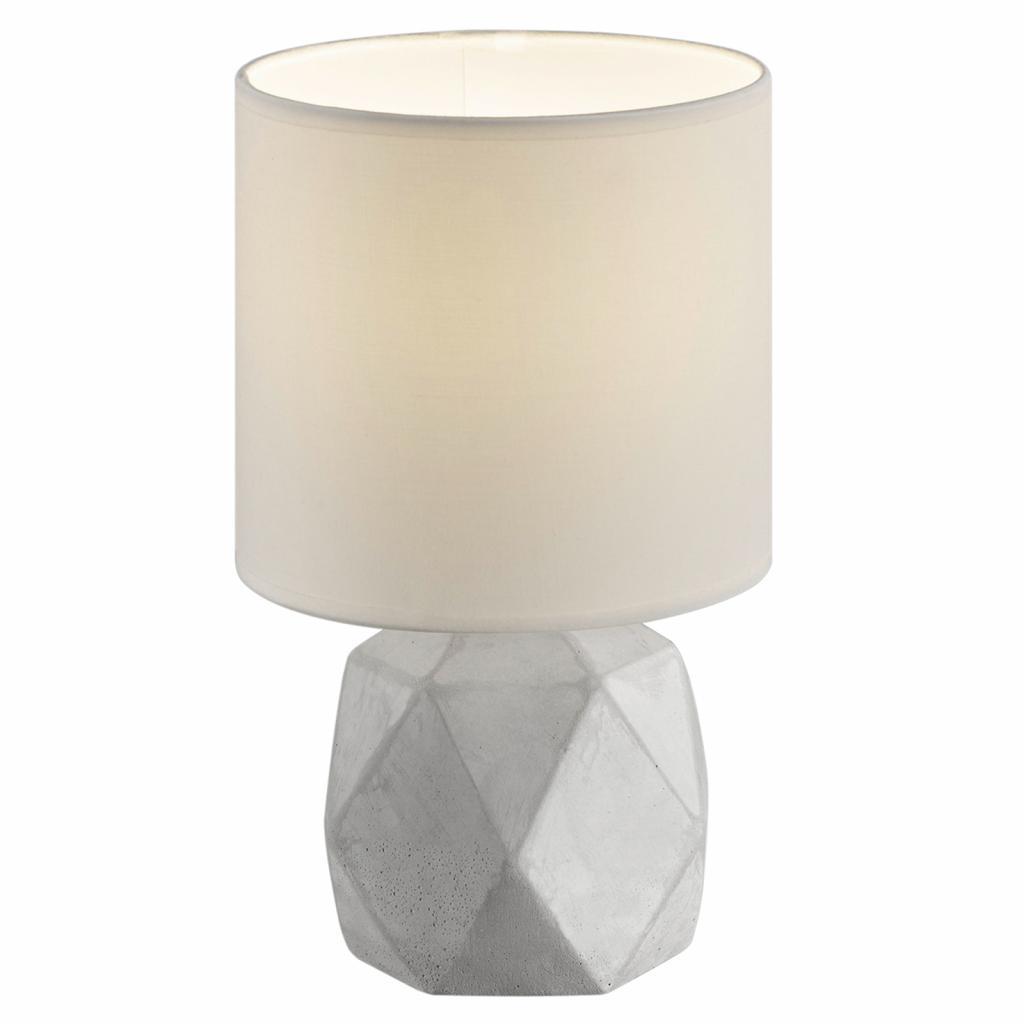 Produktové foto Reality Leuchten Textilní stolní lampa Pike s nohou tvaru diamantu