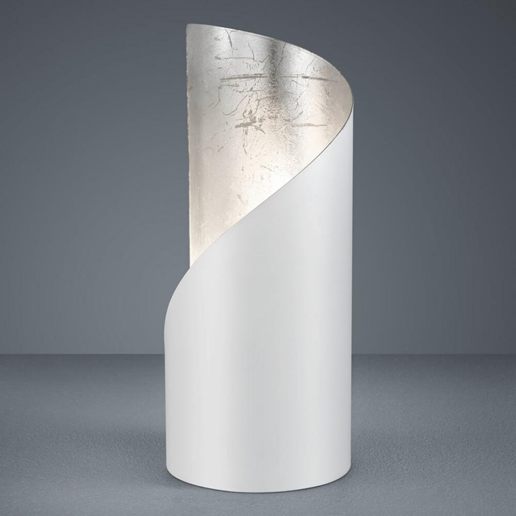 Produktové foto Reality Leuchten Stolní lampa Frank - bílá a stříbrná