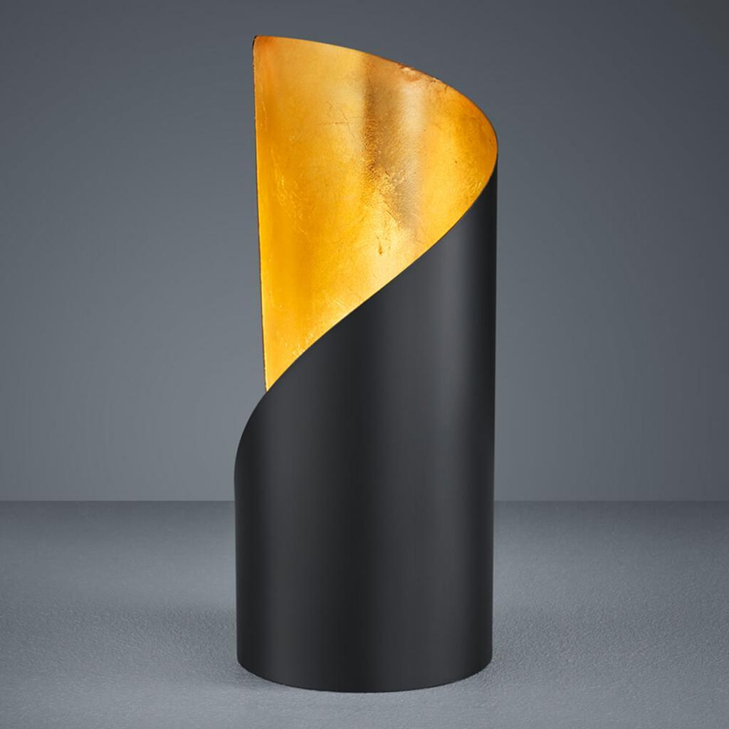 Produktové foto Reality Leuchten Stolní lampa Frank - černá a zlatá