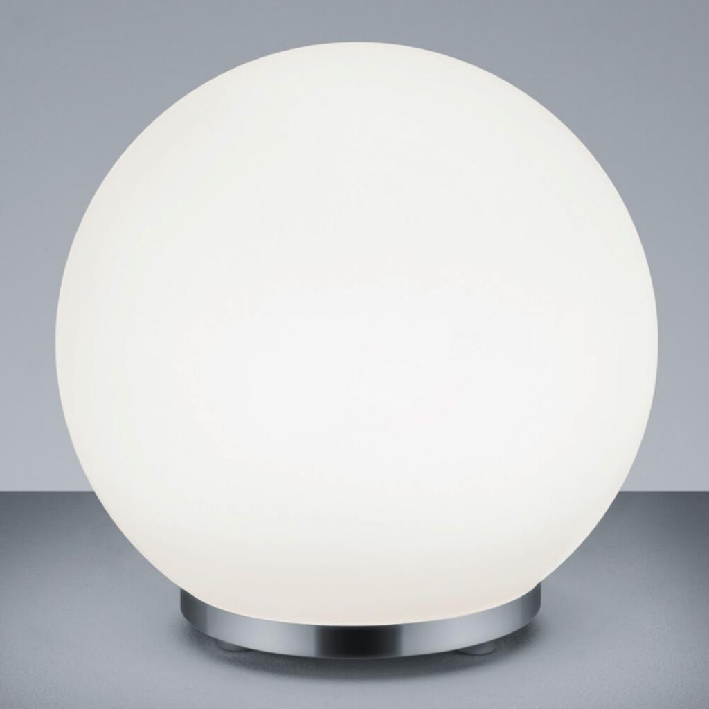 Produktové foto Reality Leuchten George - kulatá skleněná stolní lampa s ovládáním