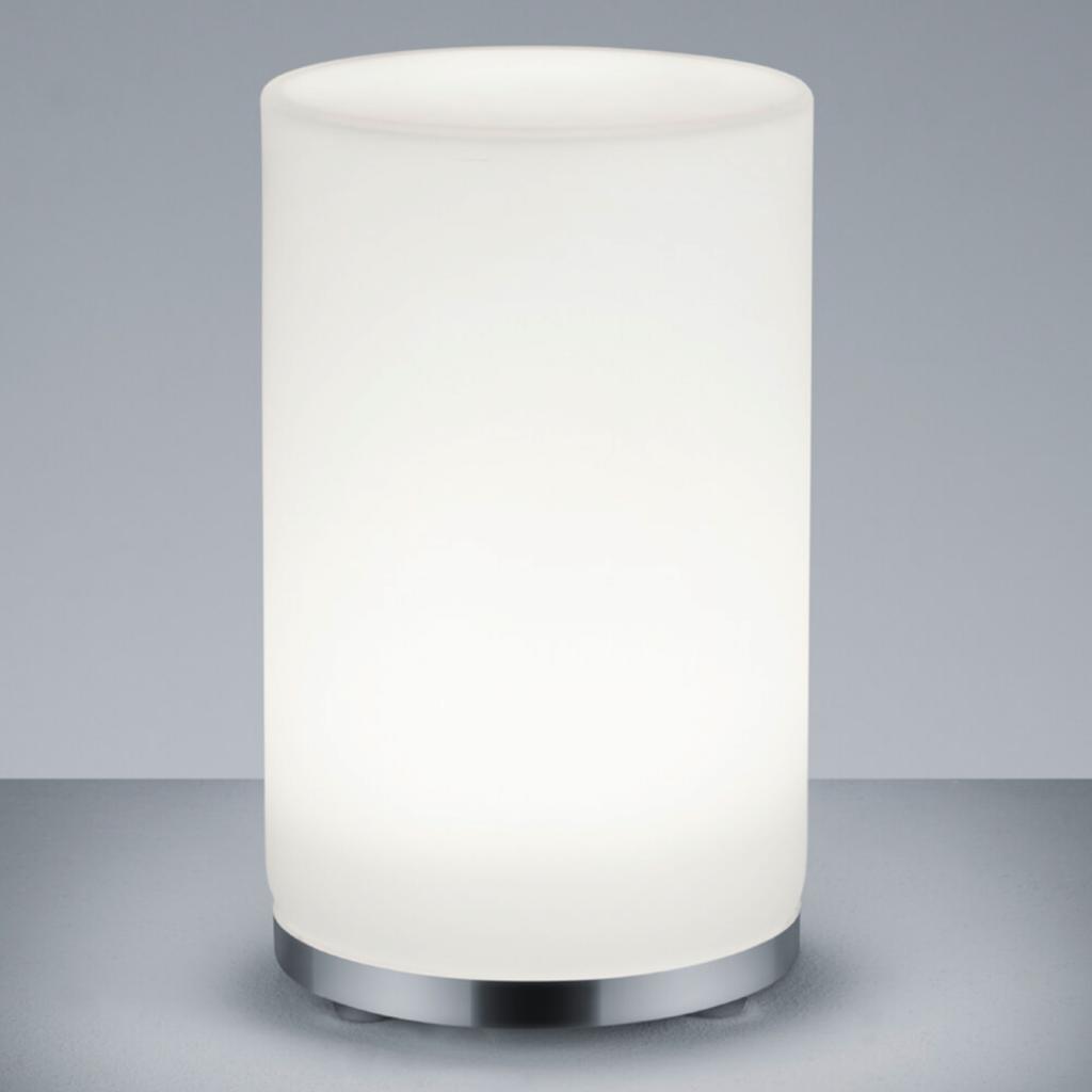 Produktové foto Reality Leuchten Válcová RGBW stolní lampa LED John s DO