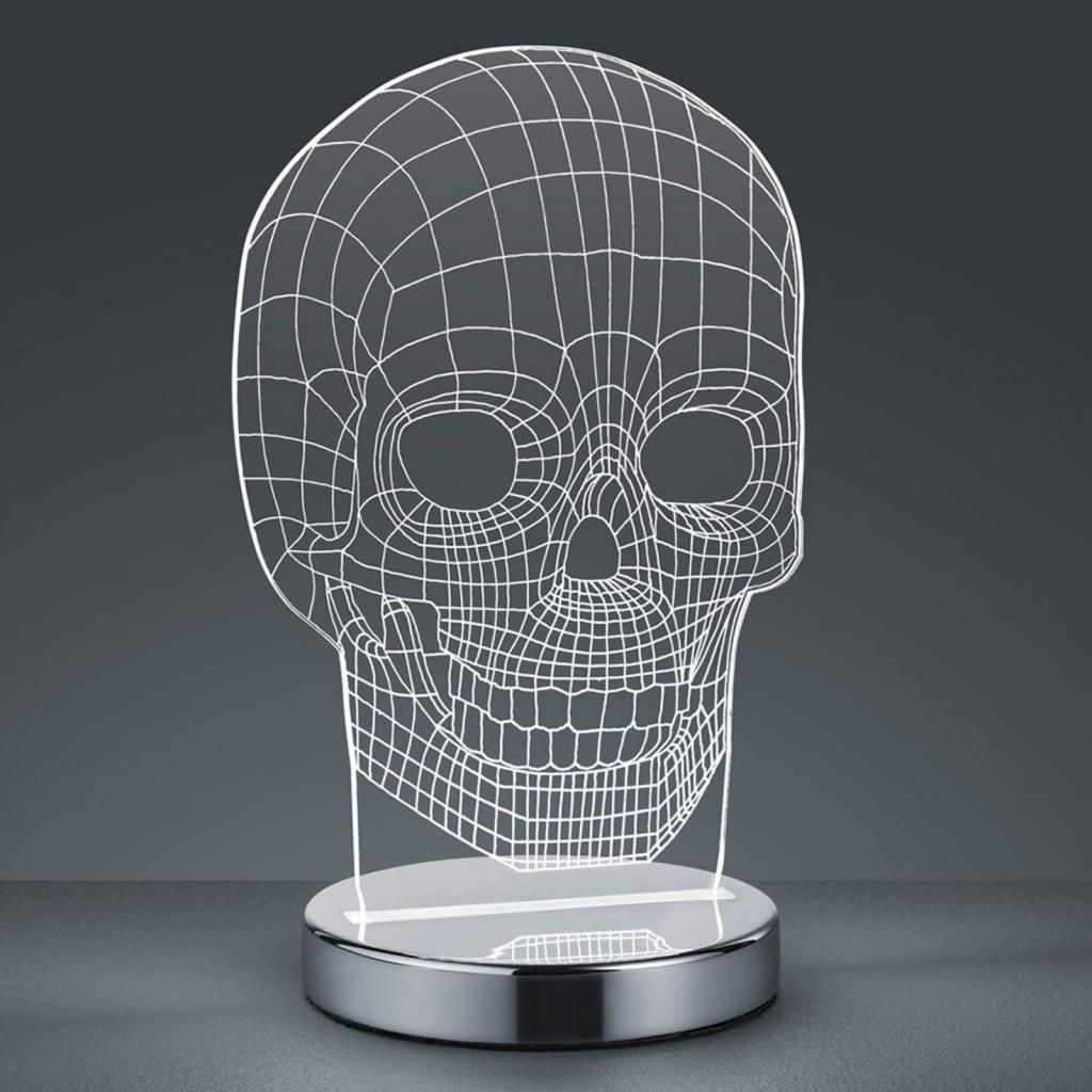 Produktové foto Reality Leuchten Barva světla přepínací - stolní lampa LED Skull