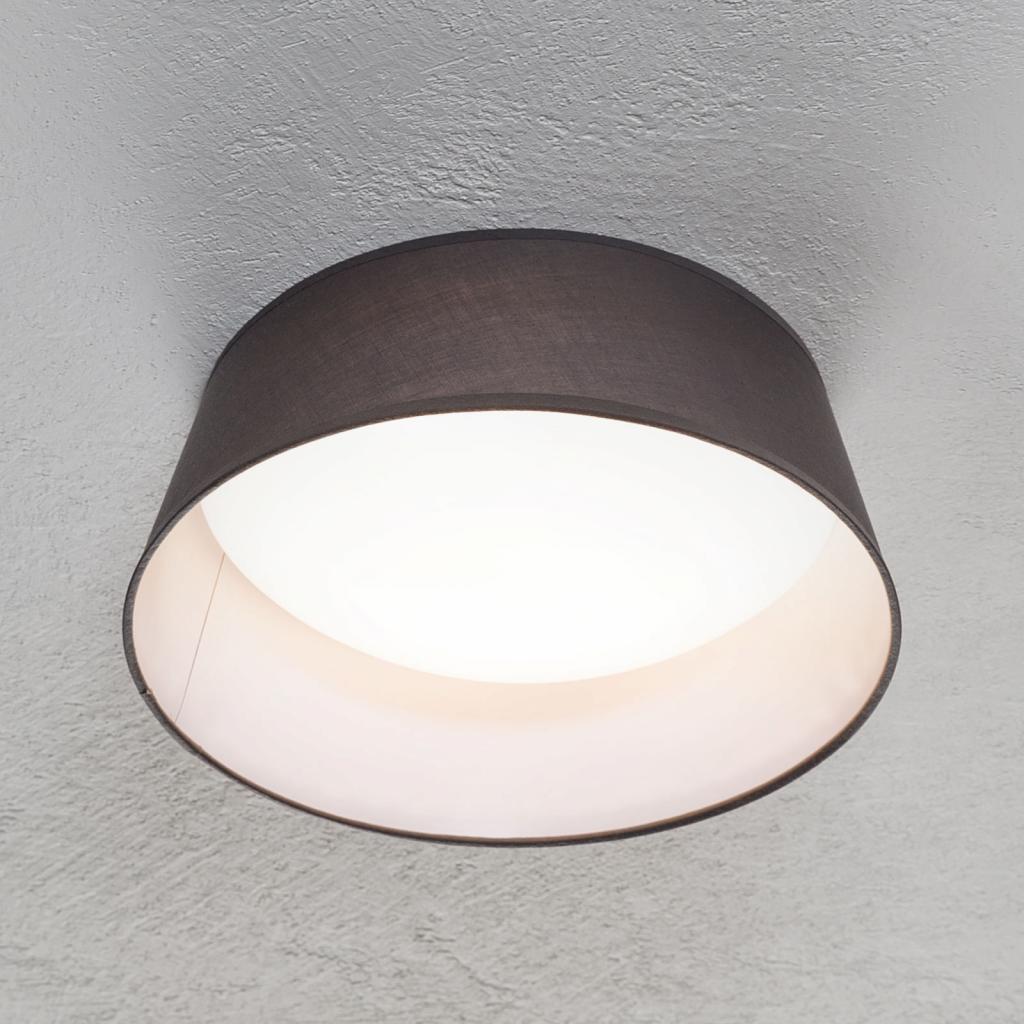 Produktové foto Reality Leuchten LED stropní svítidlo Ponts šedé textilní stínidlo