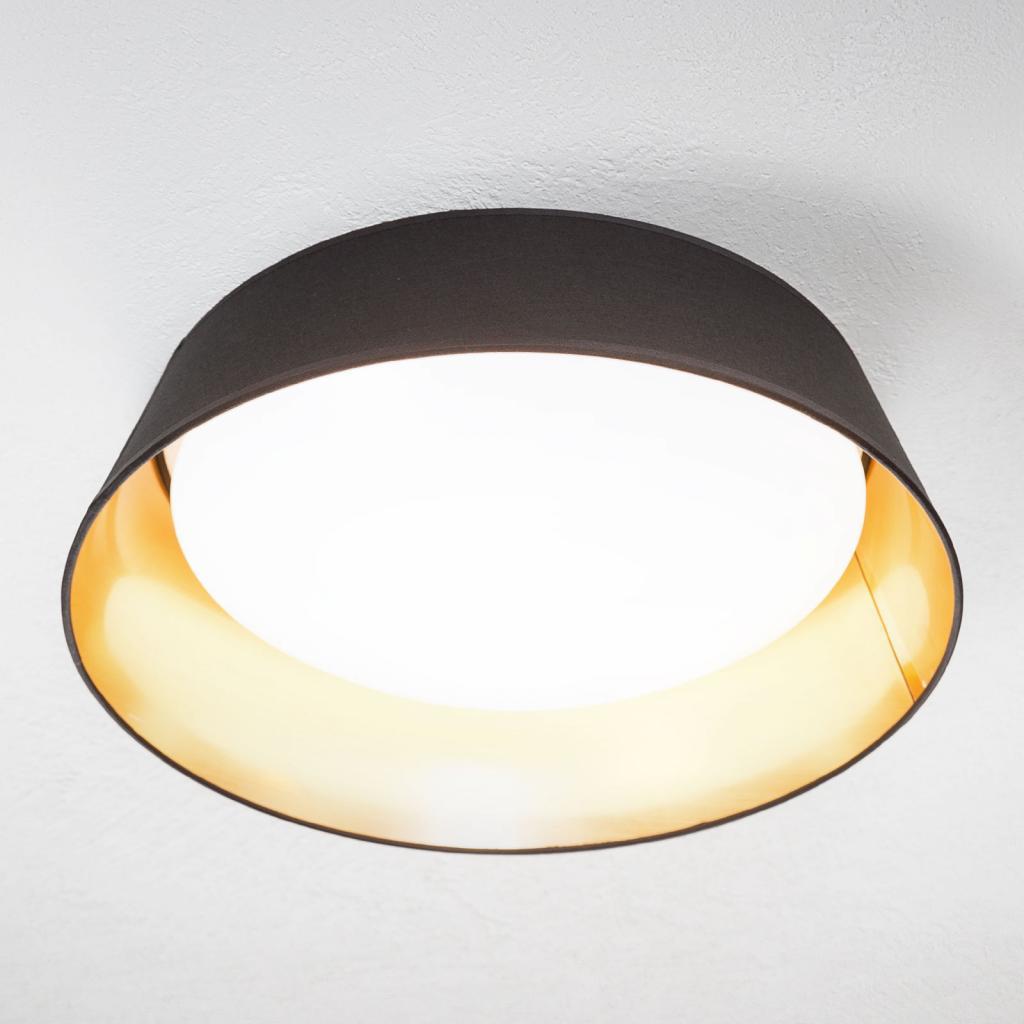 Produktové foto Reality Leuchten Černozlaté - kulaté LED stropní svítidlo Ponts