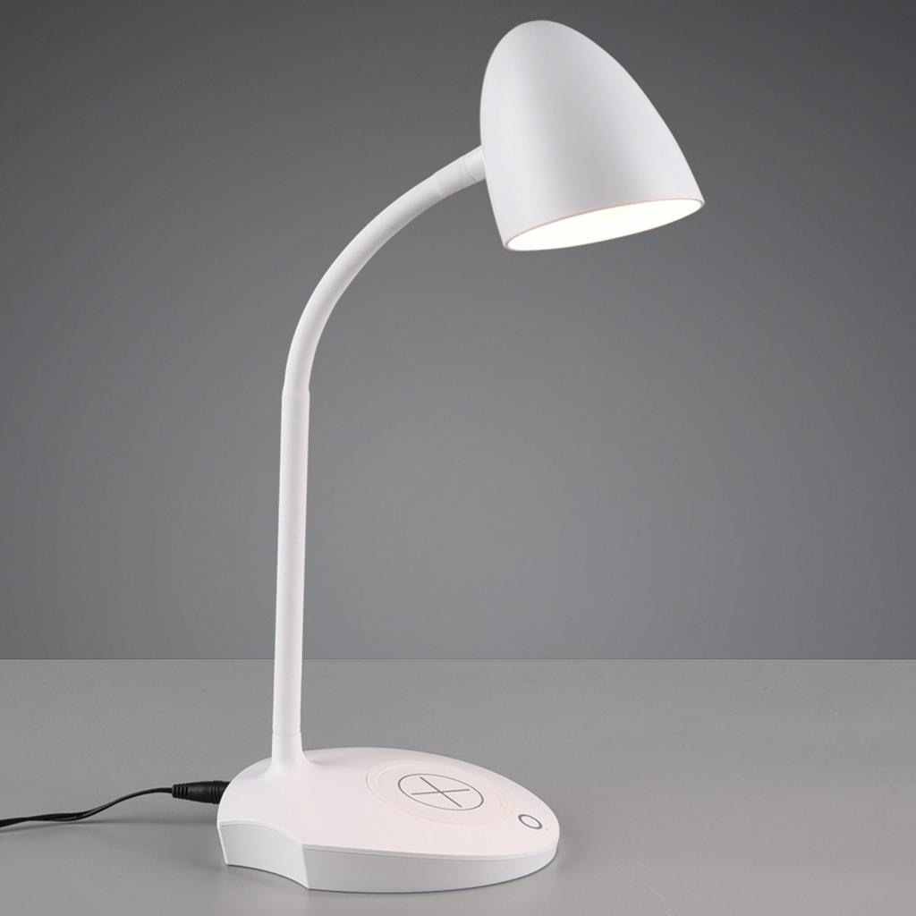 Produktové foto Reality Leuchten Stolní lampa LED Load, indukční nabíječka, bílá