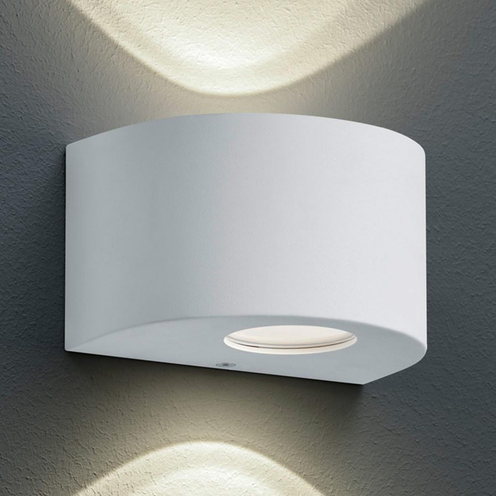 Produktové foto Reality Leuchten Kulaté LED venkovní nástěnné světlo Rosario, bílé
