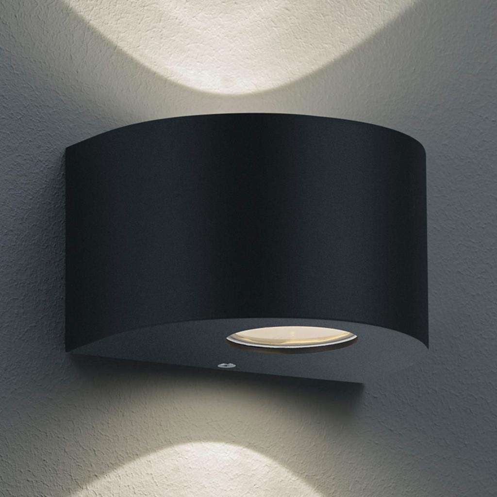 Produktové foto Reality Leuchten Kulaté LED venkovní nástěnné světlo Rosario černé