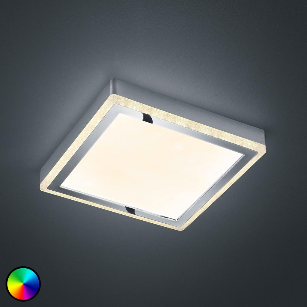 Produktové foto Reality Leuchten LED stropní svítidlo Slide, bílé, hranaté, 25x25cm