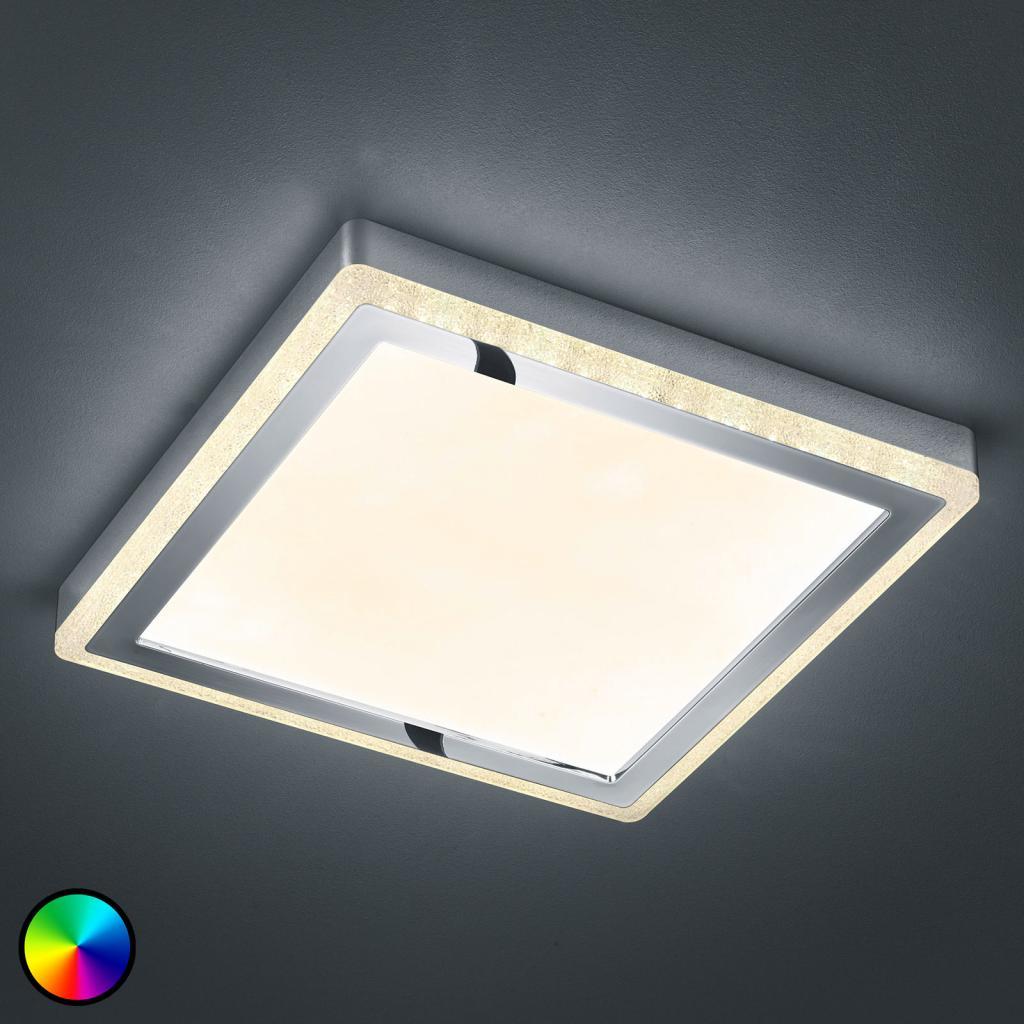 Produktové foto Reality Leuchten LED stropní svítidlo Slide, bílé, hranaté 40x40 cm