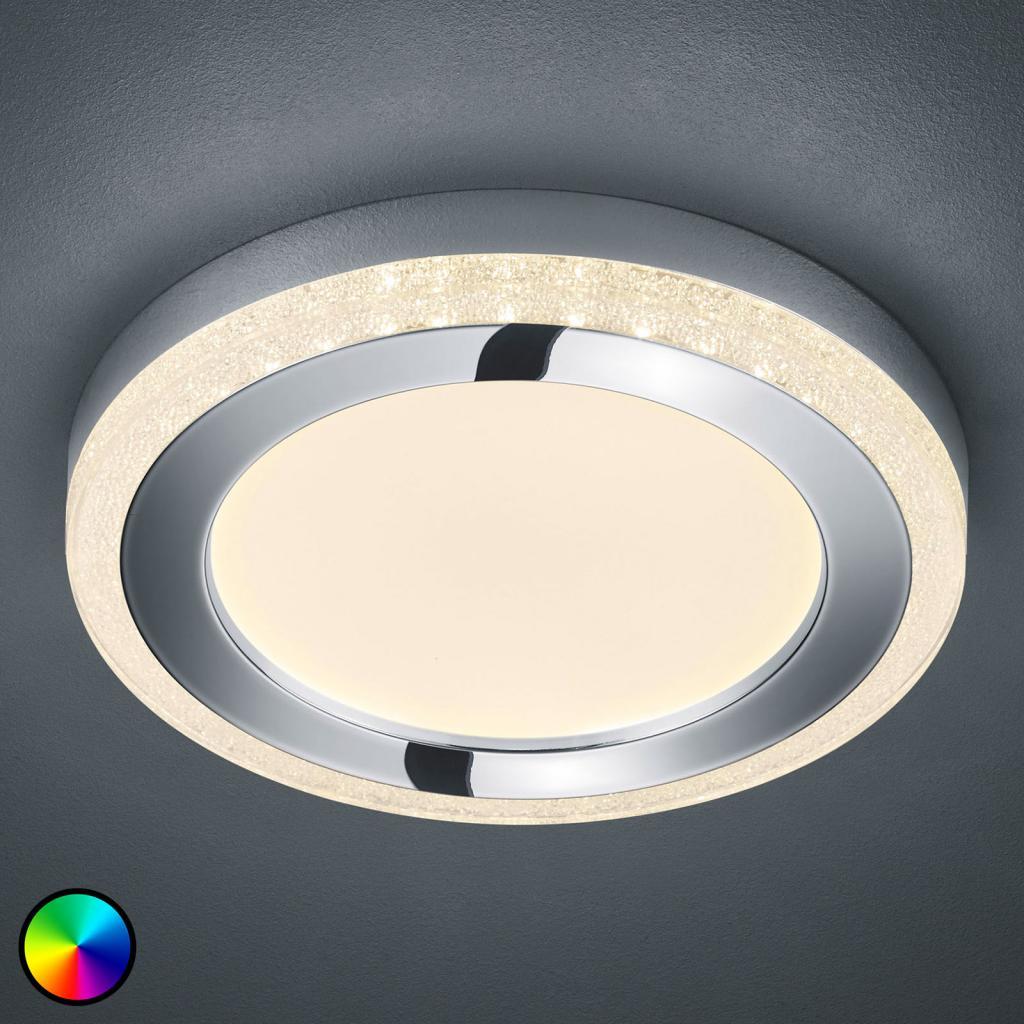 Produktové foto Reality Leuchten LED stropní svítidlo Slide, bílé, kulaté, Ø 40 cm