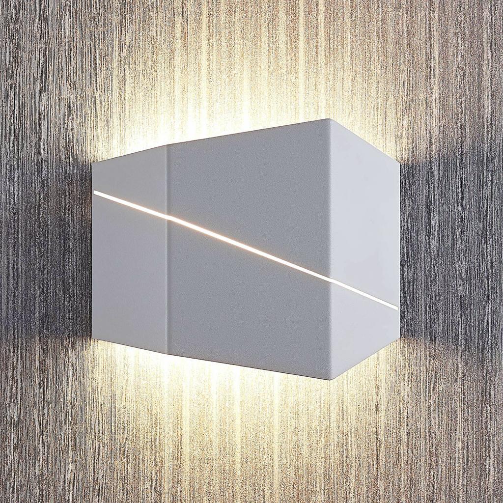 Produktové foto Lindby Nástěnné LED svítidlo Nikolae, 18cm, bílé