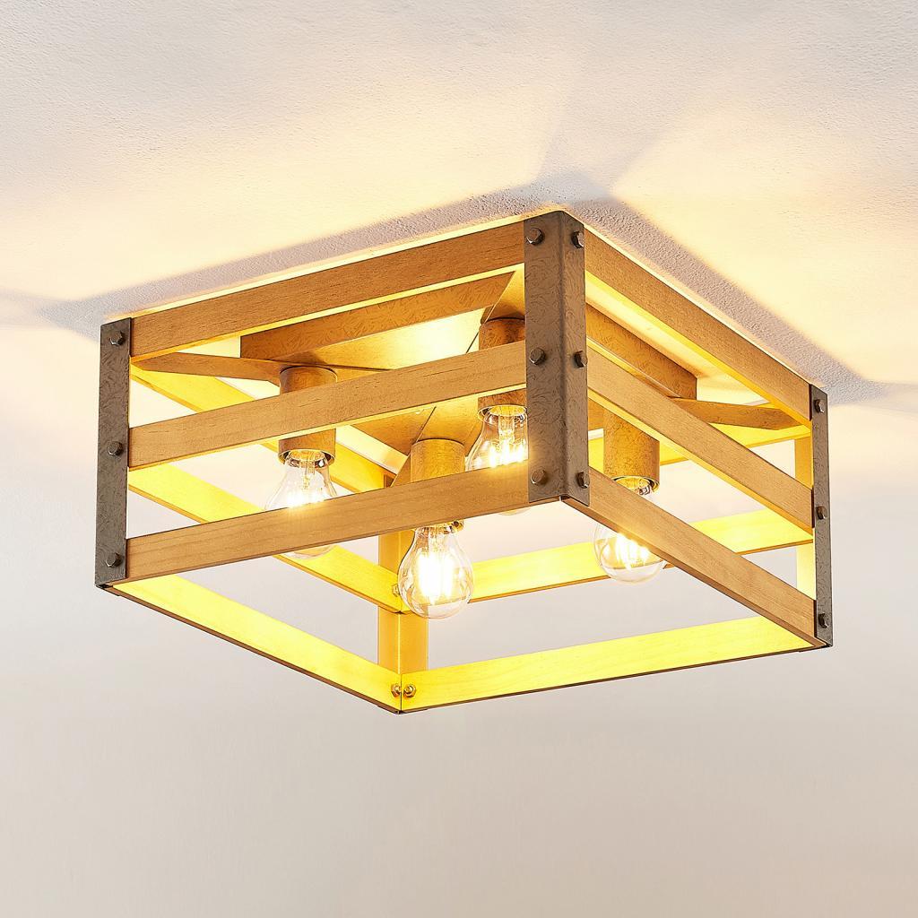 Produktové foto Lindby Lindby Jamina Wood stropní světlo, čtyřžárovkové