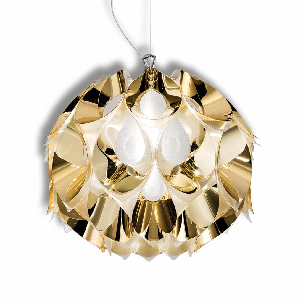 Produktové foto Slamp Slamp Flora - závěsné světlo, zlaté, 36 cm