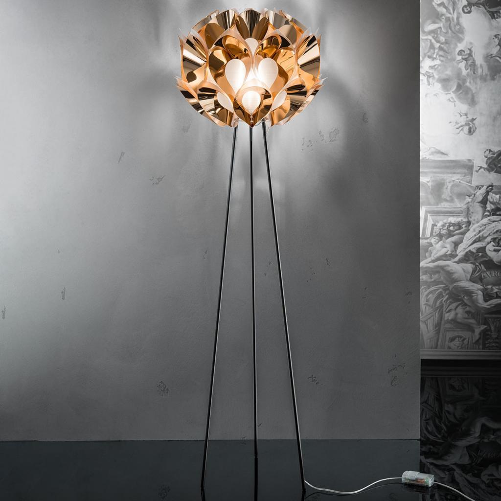 Produktové foto Slamp Slamp Flora - designová stojací lampa, měděná