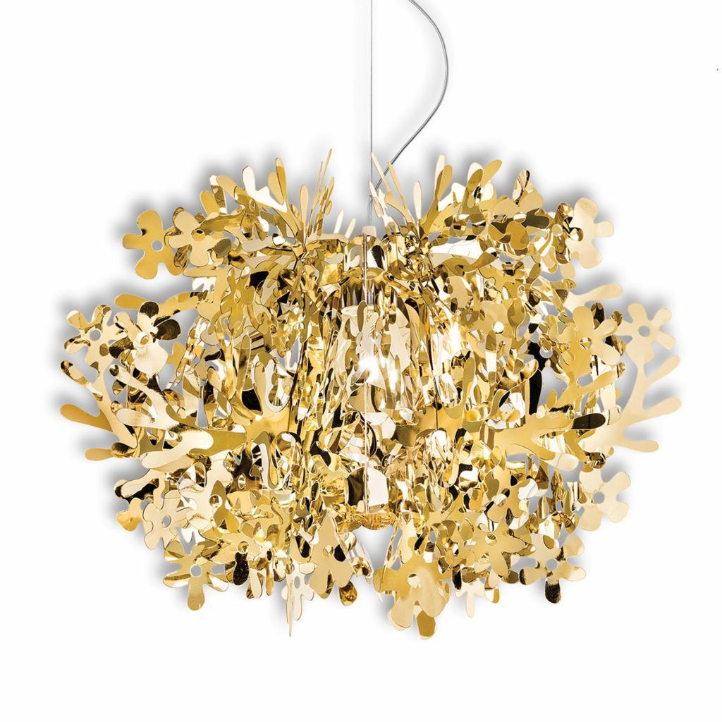 Produktové foto Slamp Slamp Fiorella - designové závěsné světlo, zlaté