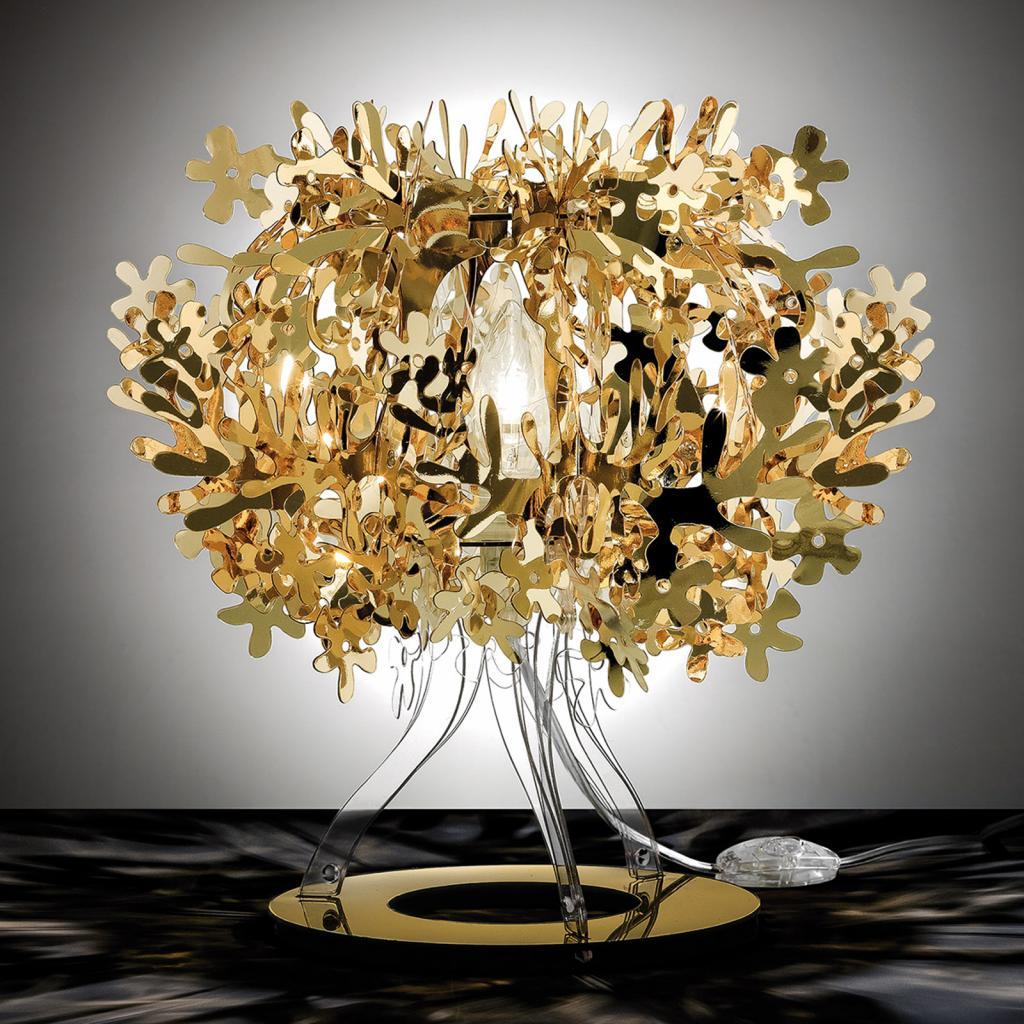Produktové foto Slamp Slamp Fiorellina - zlatá stolní lampa