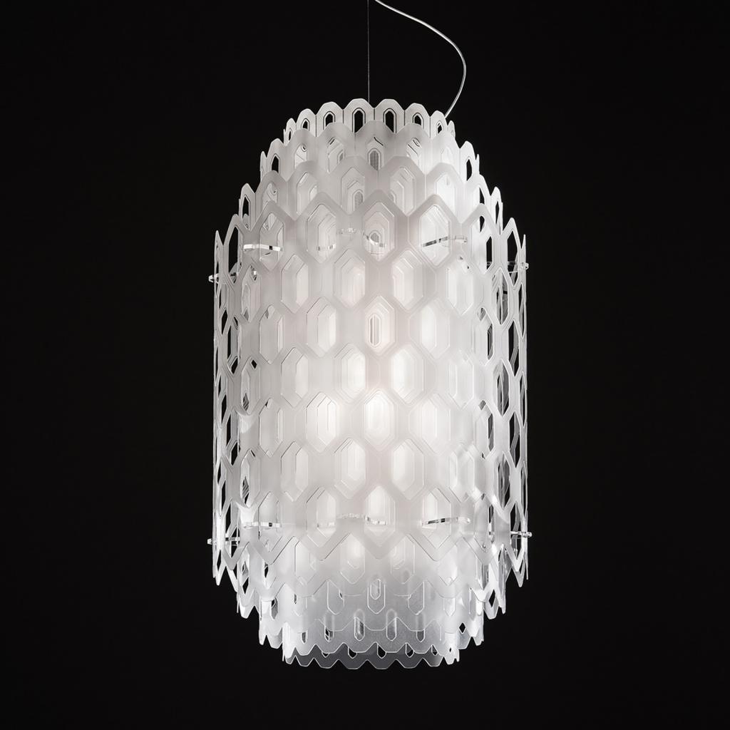 Produktové foto Slamp Slamp Chantal - LED závěsné světlo, 85 cm, bílé