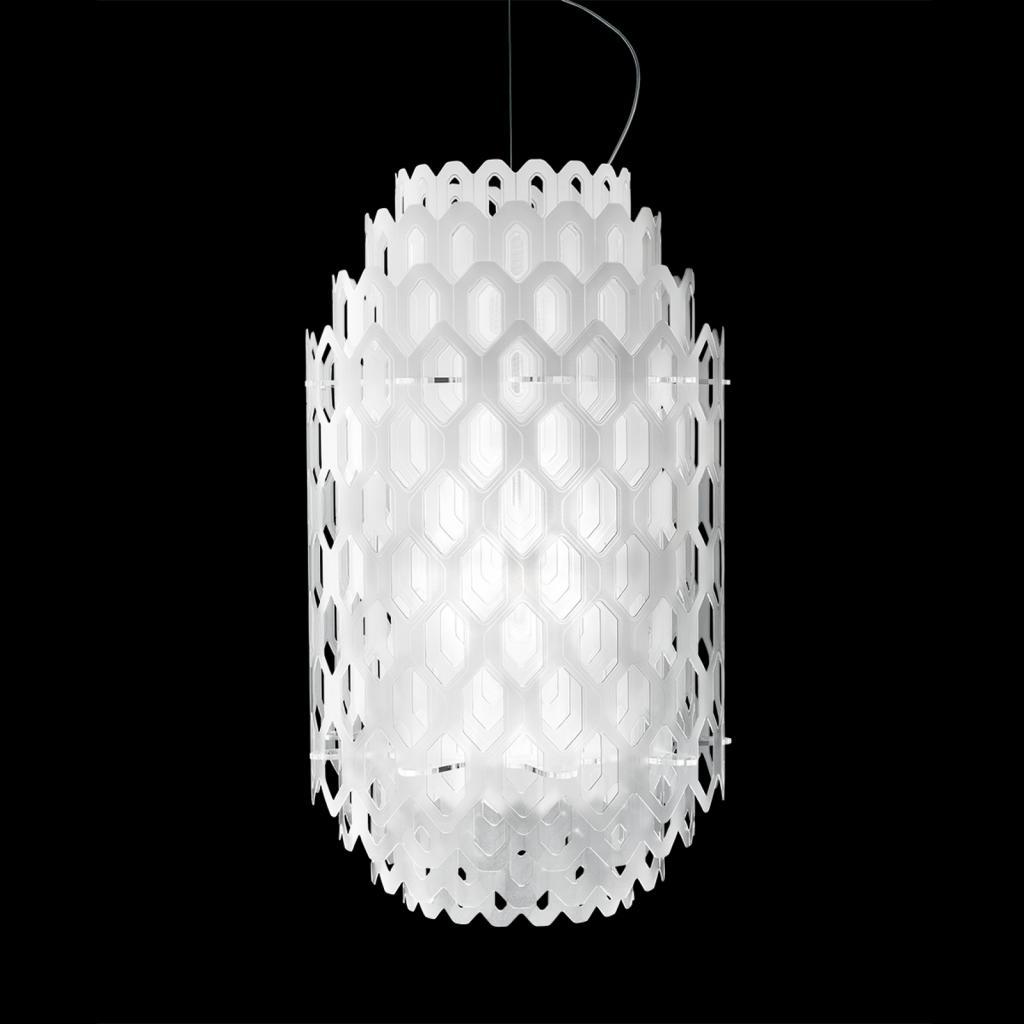 Produktové foto Slamp Slamp Chantal - LED závěsné světlo, 60 cm, bílé