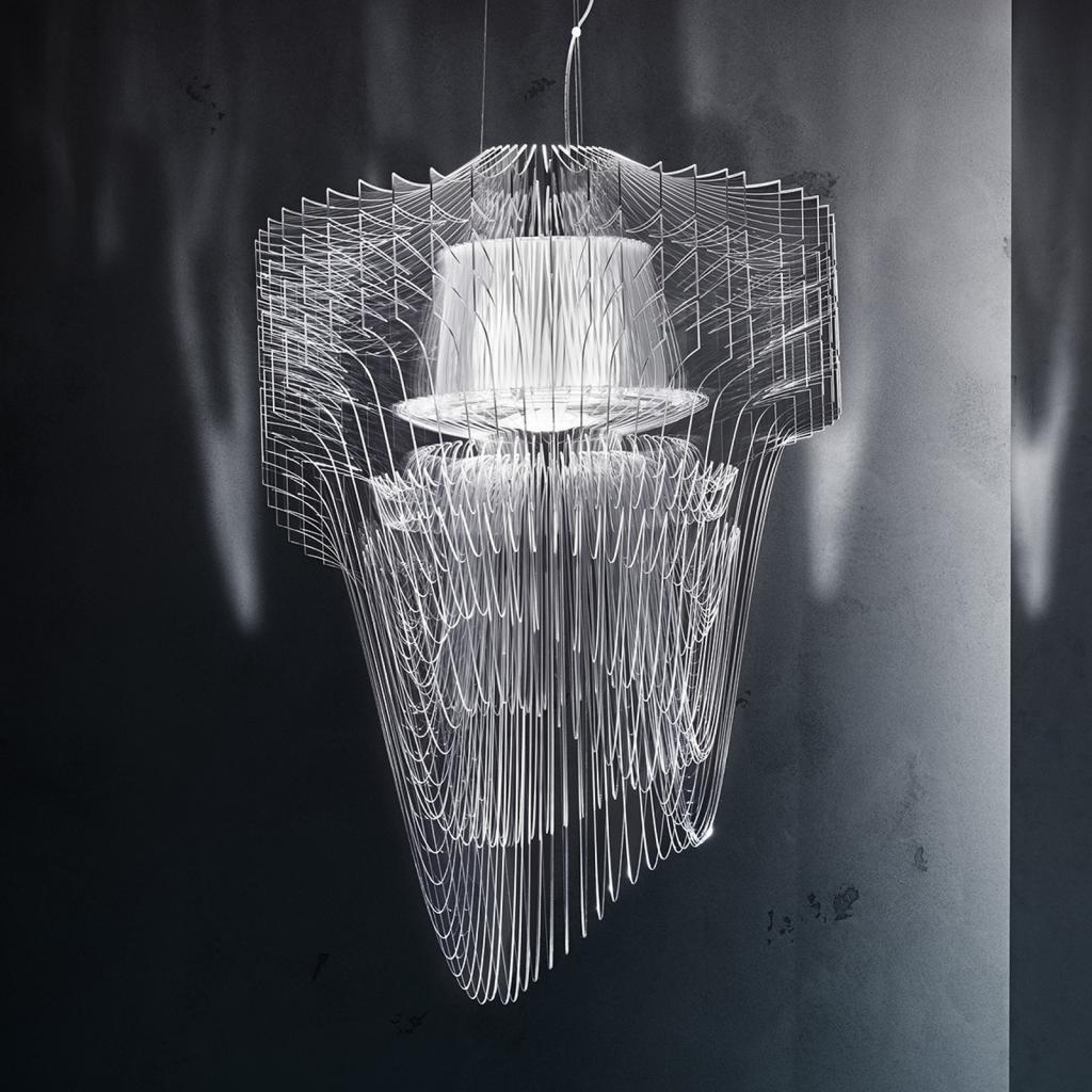 Produktové foto Slamp Slamp Aria - LED závěsné světlo, 90 cm, čiré