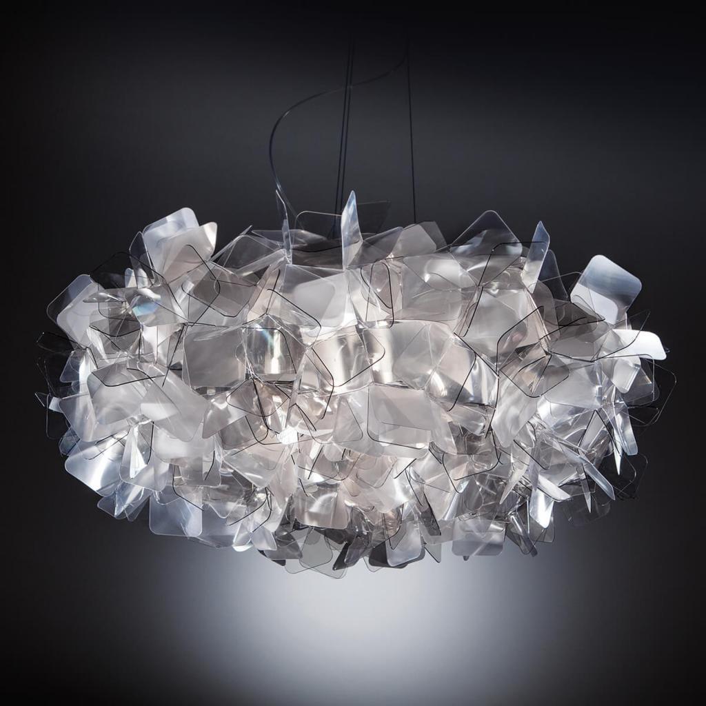 Produktové foto Slamp Slamp Clizia - designové závěsné světlo, šedé